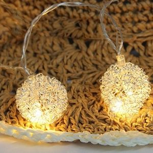 Metal Ball String Light Set -- Battery Operated